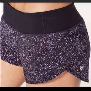 Lululemon Speed Up Crystalline Purple Shorts 6
